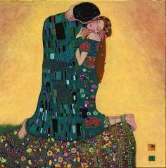 Gustav Klimt Kiss II - Ipaintingsforsale.com