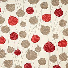 Buy John Lewis Lanterns Curtain, Claret Online at johnlewis.com
