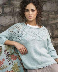 Lace Knitting, Knitting Patterns Free, Knit Crochet, Free Pattern, Diy Handbag, Vintage Beauty, Sweater Outfits, Knitwear, Textiles