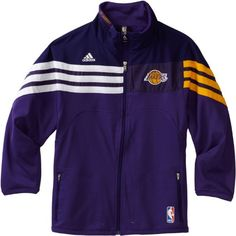 NBA Youth Los Angeles Lakers On Court Full Zip Jacket - R289Nvla (Regal Purple, X-Large) The Official On-Court Full Zip Jacket That Is The Duplicating The Exact Look That Will Be Worn By Your Favorite Player.
