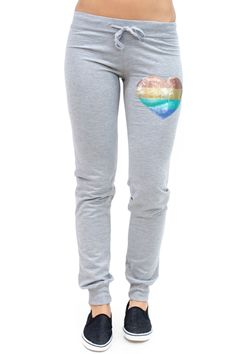 Sequined Heart Jogger Sweatpants