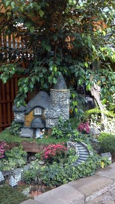 Tiny house for the fairies who live at the bottom of the garden!