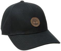 b854afe6 Timberland Men's Classic Baseball Cap. Six panel curved brim. Color: Black.  Size