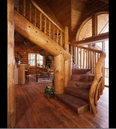 log cabin loft railing ideas - Google Search | Cabin ...