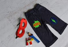 Superhero Theme Appliques for Children Happy by HappyPatches, $12.00