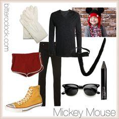 """Mickey Mouse Halloween Costume for Men"" by bitteroclock on Polyvore #disneycostume #guyscostume #couplecostume"