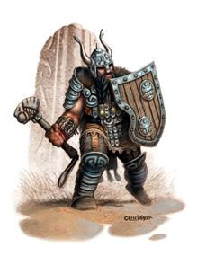 This stock art image by Eric Lofgren depicts a dwarven warrior in RGB colour. $10  www.rpgnow.com/product_info.php?products_id=123771&affiliate_id=34429&src=Pinterest