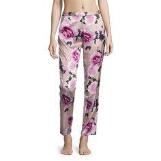 Fleur du Mal Women's Contrast Back Seam Silk Pajama Pants ($255) ❤ liked on Polyvore featuring intimates, sleepwear, pajamas, apparel & accessories, bloom, silk pyjamas, silk pj pants, silk pjs, silk sleep wear and silk pajamas