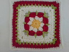 Ravelry: Project Gallery for Just Peachy Blossom pattern by Donna Mason-Svara Crochet Square Blanket, Crochet Blocks, Crochet Squares, Crochet Granny, Crochet Motif, Crochet Flowers, Crochet Stitches, Crochet Patterns, Granny Squares