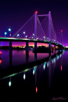 Cable Bridge, Kennewick, WA. My brother is serving a mission there!! I wonder if he ever saw it when he was there!! He's now in Oregon