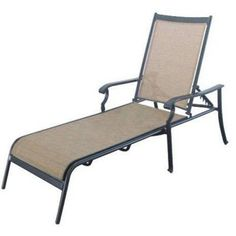 Martha Stewart Living Solana Bay Patio Chaise Lounge-AS-ACL-1148 at The Home Depot, $129, nice look but  about 50/50 good vs bad reviews (flimsy, poorly made, fabric problems, etc).
