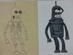 Cartoon Skeletons!