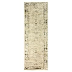Art silk rug in natual with a classic floral motif and contrast border. Made in Belgium.   Product: RugConstruction...