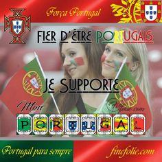 Fier d'être portugais et supportrices du Portugal