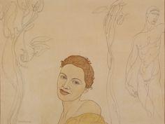 Austin Osman Spare. Caroline Gaia Yellow Shawl