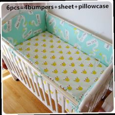 42.80$  Buy now - http://aliqey.worldwells.pw/go.php?t=32462314012 - Promotion! 6PCS Baby boy bedding set Baby crib bedding sets.Baby cot bed.100% cotton Quilt Cover (bumper+sheet+pillow cover) 42.80$