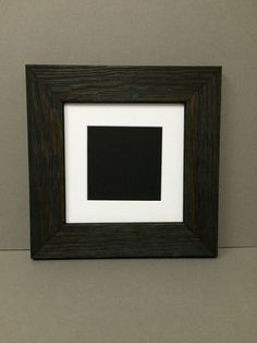 square rustic black barn board style picture frame with mat over 30 mat colors to choose