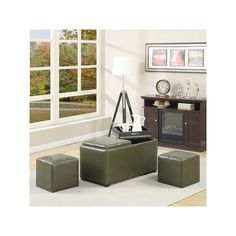 Simpli Home Avalon Faux-Leather Rectangular Storage Ottoman, Green Small Coffee Table, Chair Bench, Grey Stone, Tray Decor, Cleaning Wipes, Upholstery, Ottoman Storage, Leather, Home