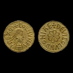 Gold mancus of Coenwulf  Kingdom of Mercia, England  AD 796-821    England's answer to Charlemagne?    This gold coin of Coenwulf, king of Mercia (796-821), is unique, and one of only eight gold British coins known from the period AD 700-1250.  Coenwulf was king of Mercia, East Anglia and Kent, making him ruler of most of England.