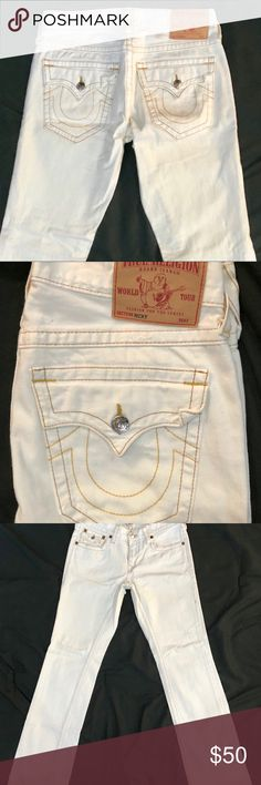 True Religion Jeans Up for sale is a pair of off true religion jeans.  They are from the Ricky collection in perfect condition and are a size 31 waist with 32 lengths. True Religion Jeans