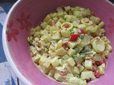 Meine Low Carb Rezepte: Kohlrabi-Curry-Salat - Ein gemüsiger Salat, der einem beim Grillen gleich den Curry-Dip erspart.