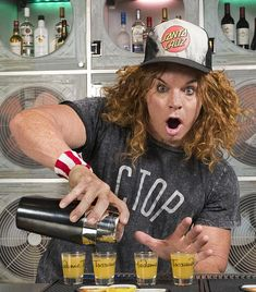 Carrot Top Brings the Party to The Hangover Bar Inside Madame Tussauds Las Vegas with Boozy Shot (Photo credit: L. Baskow of Powers Imagery). Top Comedians, Funny Comedians, Hangover Bar, Fruity Shots, Carrot Top, Madame Tussauds, Shot Photo, Photo Credit, Carrots