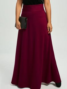 84d7a9ae8dfb3 Plus Size High Waist Maxi Flare Skirt Sammy Dress