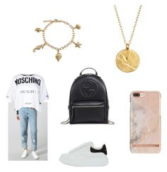 """Untitled #1335"" by tal-haliva on Polyvore featuring WÃ¥ven, Moschino, Alexander McQueen, Gucci, Bling Jewelry and Chupi"