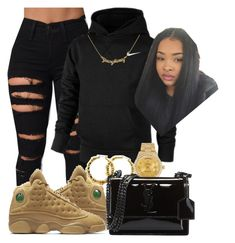 """❤"" by kashharmonii ❤ liked on Polyvore featuring NIKE, Rolex and Yves Saint Laurent"