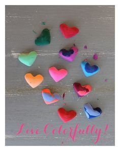 Linen, Lace, & Love: DIY Heart Shaped Crayons