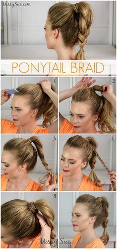Simple and easy hairstyles for long hair frisuren stil pinterest ponytail braid solutioingenieria Choice Image