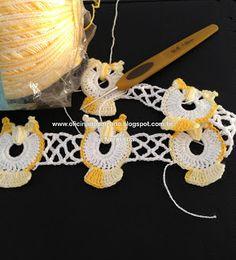 """Little cute owls edging! OFICINA DO BARRADO: Croche - Minhas """"CORUJICES"""" Barradas ..."""