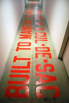 Lawrence Weiner, Built to maintain the inner edges of a cul-de-sac, 2009 by 16 Miles of String, via Flickr
