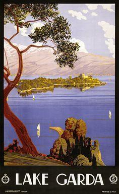 Lake Garda - ENIT (1924) vintage travel poster
