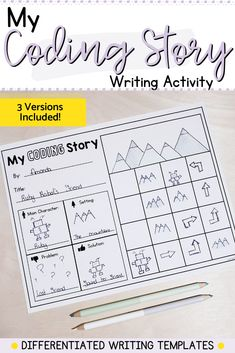 These writing prompts can be used to reinforce writing skills, story elements, sequencing and beginning coding skills. Each of the 3 templates can be differentiated based on the needs of your students. Start with a simple prompt, and move on to a more complex one. Writing Skills, Writing Prompts, What Activities, Story Elements, Differentiation, Kindergarten Classroom, Literacy Centers, Students, Coding
