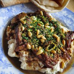 andy-bates-lamb-with-roasted-garlic-almond-dip
