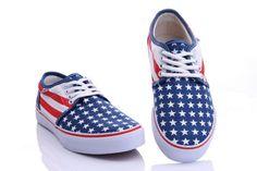 Vans Shoes Blue Flag Classic Canvas Sneakers#cheapvans
