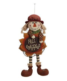 Look what I found on #zulily! 'Fall Greetings' Scarecrow Statue #zulilyfinds