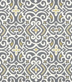 Upholstery Fabric-Robert Allen New Damask Greystone