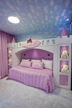 I want this bedroom! A room should never allow the eye to settle in one place. It should smile at you and create fantasy home decor decoration salon decoration interieur maison Baby Bedroom, Bedroom Sets, Room Decor Bedroom, Girls Bedroom, Bed For Girls Room, Girl Room, Dream Rooms, Dream Bedroom, Fantasy Bedroom