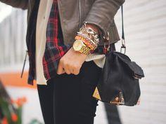 knits and plaid, alexander wang marion bag