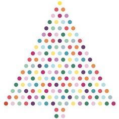 Silhouette Design Store - View Design #238498: christmas tree dots