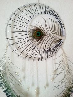 Peacock Dream Catcher Boho Dream Catcher by DreamyFlowerWonder
