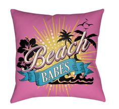 Artistic Weavers Litchfield Beachy Light Blue & Fuchsia 26 x 26 in. Pillow w/ Poly Fill, Transitional Outdoor Pillow Covers, Outdoor Throw Pillows, Throw Pillow Covers, Accent Pillows, Decorative Throw Pillows, Bed Pillows, Bed Linens, Light Blue Bedding, Pink Bedding