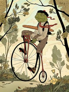Frogfolio 2013: Morning Ride by Kyle T. Webster, via Behance