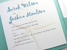 Beach Wedding Invitation Quirky Starfish by essentialimages, $5.15