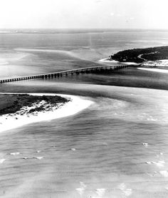Aerial view of Destin Bridge. What a great photo of Destin before all of the development!