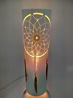 Luminária Filtro dos sonhos com penas