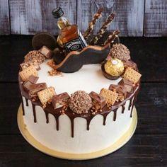 50 Likes, 3 Comments - Taste . - # Taste # # Comments # Like # Marks - Birthday Cake Flower Ideen - Torten 30th Birthday Cakes For Men, Birthday Cake For Boyfriend, Boyfriend Cake, 17th Birthday, Mom Birthday, Alcohol Cake, Cupcake Cakes, Food Cakes, Bottle Cake