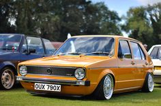 Volkswagen Golf Mk1, Vw Mk1, Mk 1, Golf 1, Yellow Car, Nice Cars, Vroom Vroom, Slammed, Custom Cars